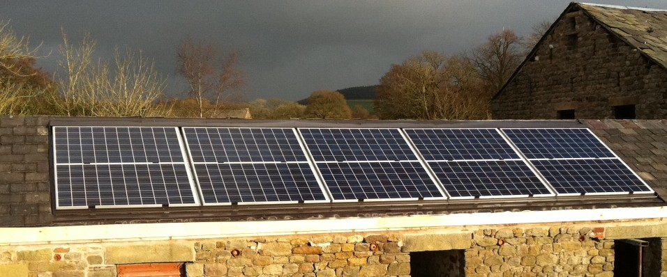 Barn conversion with GSHP, PV & solar thermal