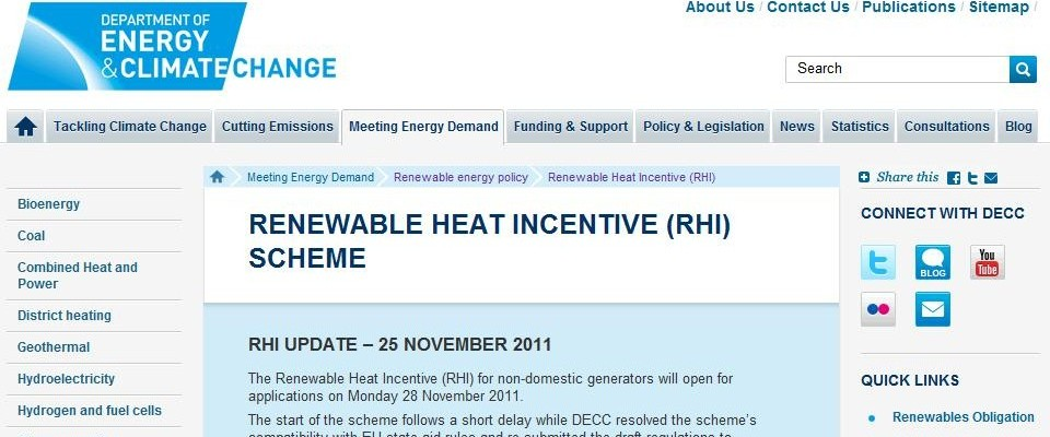 The RHI and heat pumps